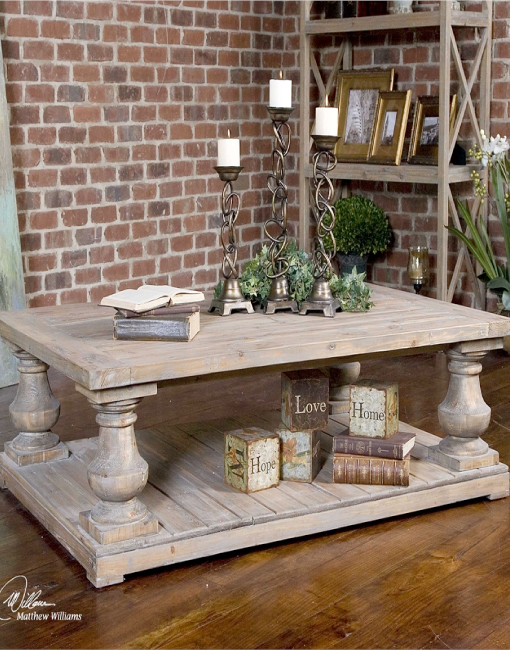 Uttermost Stratford Rustic Cocktail Table Arte Fina Furniture