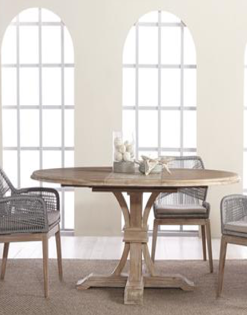DEVON ROUND EXTENSION DINING TABLE 4